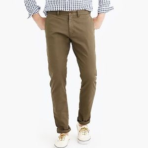 Men's J Crew slim fit chino in green - 35x32